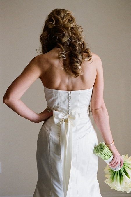 Back of bride's wedding dress - Picture by Yvette Roman Photography