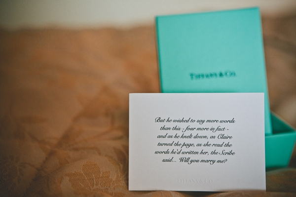 Bride's wedding gift and note - Picture by McKinley-Rodgers Photography