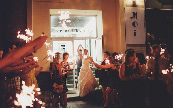 Wedding party with sparklers - Picture by Josh Dookhie Photography