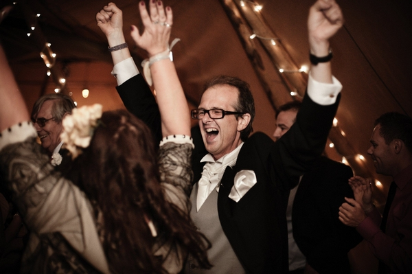 Wedding guests dancing - Picture by Archibald Photography