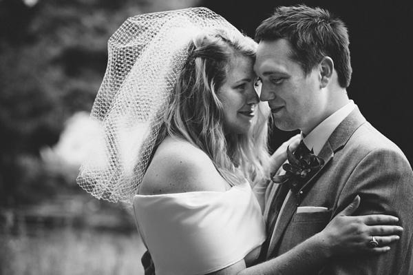 Black and white picture of bride and groom - Picture by McKinley-Rodgers Photography