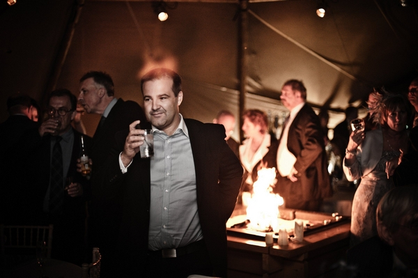 Tipi wedding reception - Picture by Archibald Photography