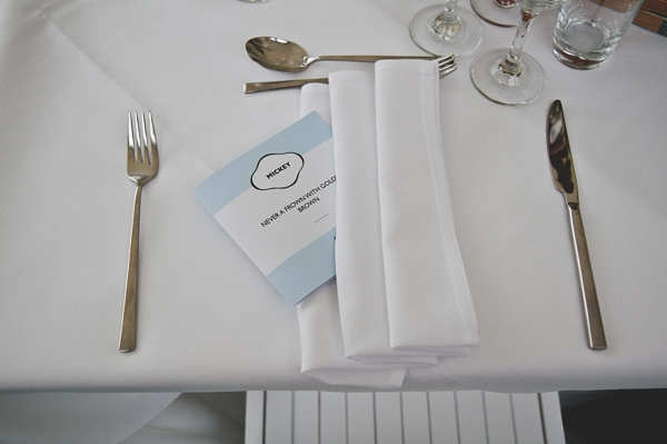 Wedding breakfast table layout - Picture by McKinley-Rodgers Photography