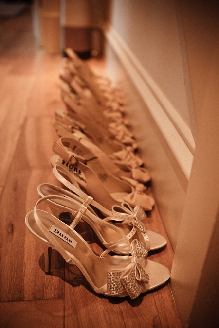 Row of wedding shoes - Picture by Archibald Photography