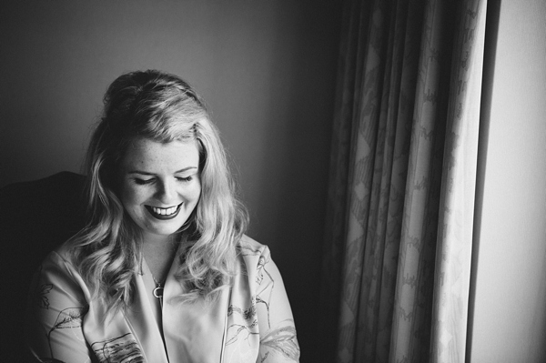 Bride smiling before wedding - Picture by McKinley-Rodgers Photography