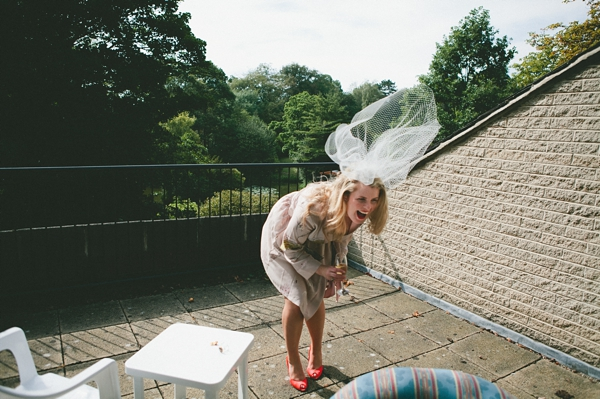 Bride laughing - Picture by McKinley-Rodgers Photography