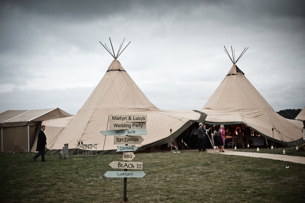 Real Tipi Weddings: A Castle And Beach Tipi Wedding