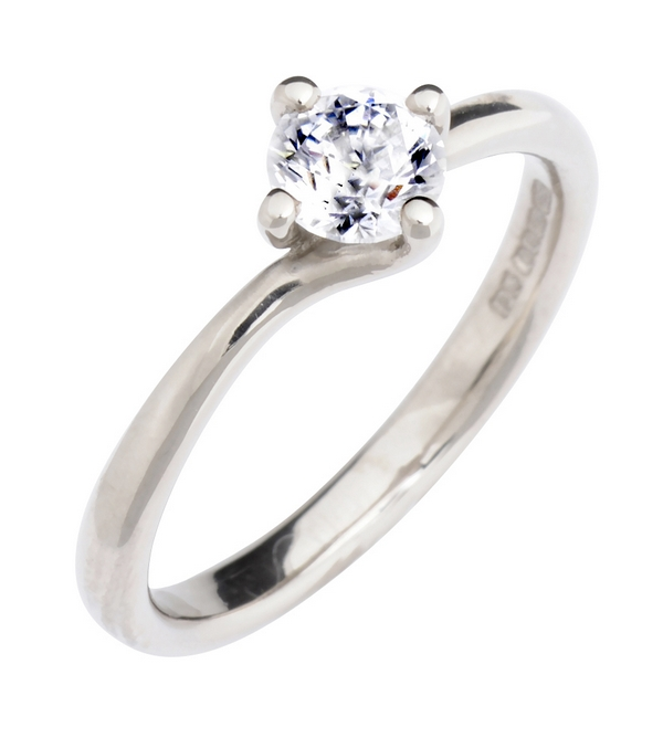 Twist Solitaire Ethical Engagement Ring from CRED Jewellery