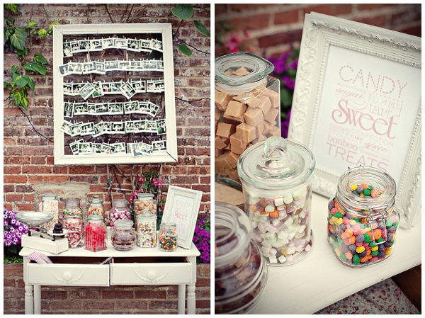 Wedding sweetie tables - Picture by Marianne Taylor Photography