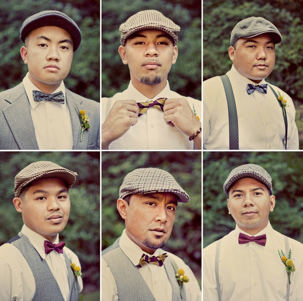 Vintage groomsmen headshots - Picture by Paco and Betty