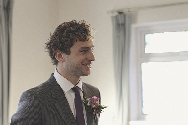Groom smiling - Picture by York Place Studios
