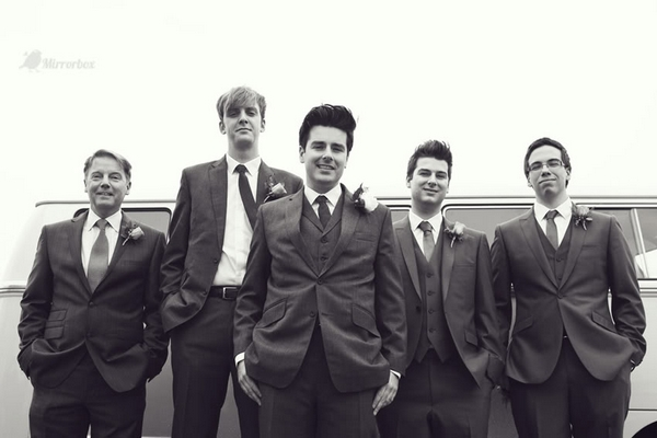 Vintage groomsmen - Picture by Mirrorbox Photography