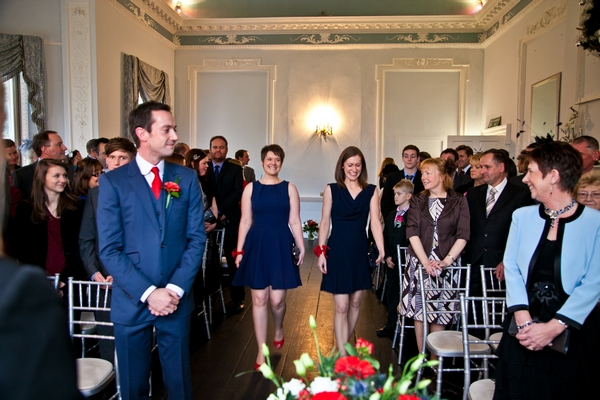 Bridesmaids entering wedding ceremony - Picture by Anneli Marinovich Photography