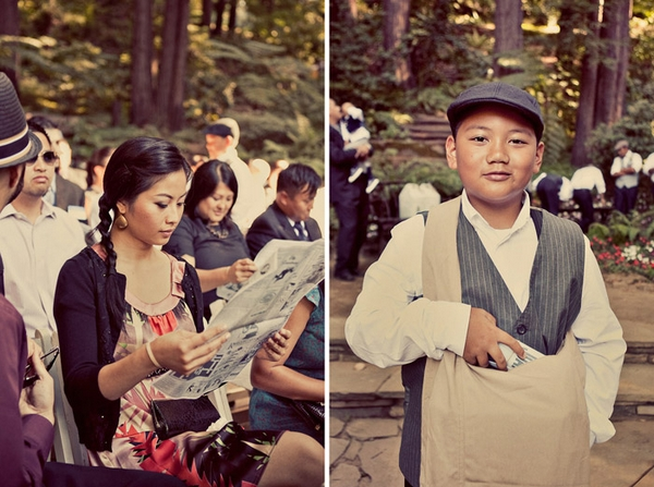Paperboy at wedding - Picture by Paco and Betty