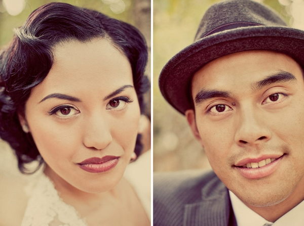 Vintage bride and groom headshots - Picture by Paco and Betty