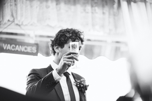 Groom raising a toast - Picture by York Place Studios