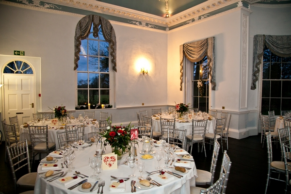 Wedding tables laid out at Somerford Hall - Picture by Anneli Marinovich Photography