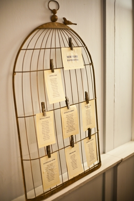 Birdcage wedding table plan - Picture by Anneli Marinovich Photography