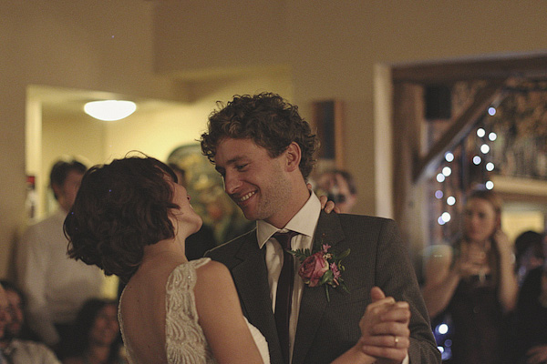 Bride and groom looking at each other during wedding dance - Picture by York Place Studios