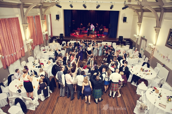 Dancing at wedding in town hall - Picture by Mirrorbox Photography