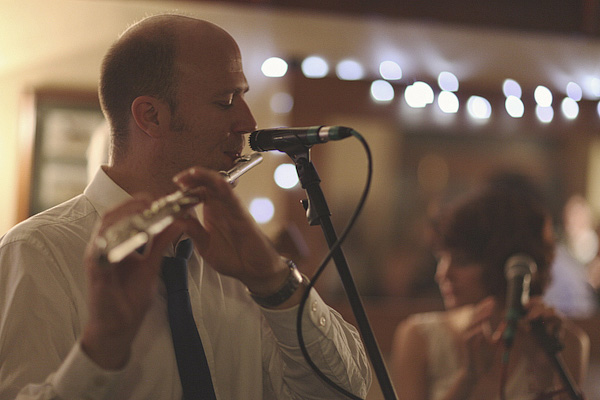 Flute player at wedding party - Picture by York Place Studios