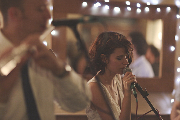 Bride singing at wedding - Picture by York Place Studios
