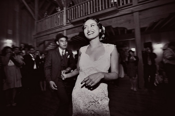 Bride leading groom to dance floor - Picture by Paco and Betty