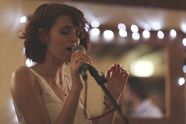 Bride singing - Picture by York Place Studios