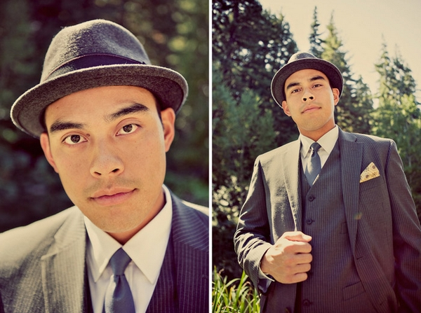 Groom wearing trilby - Picture by Paco and Betty