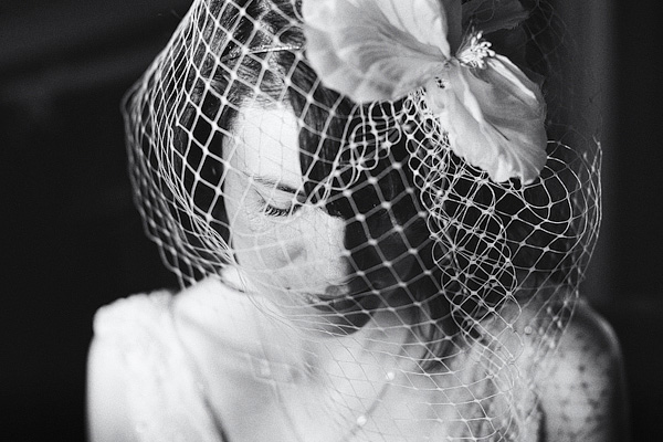 Bride wearing veil - Picture by York Place Studios