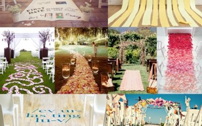 Wedding Ceremony Aisle Runner Ideas