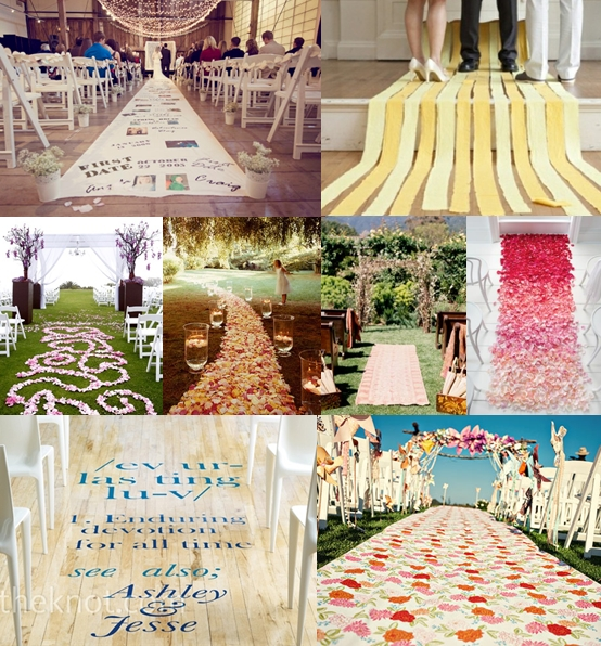 Wedding Ceremony Aisle Runner Ideas Mood Board