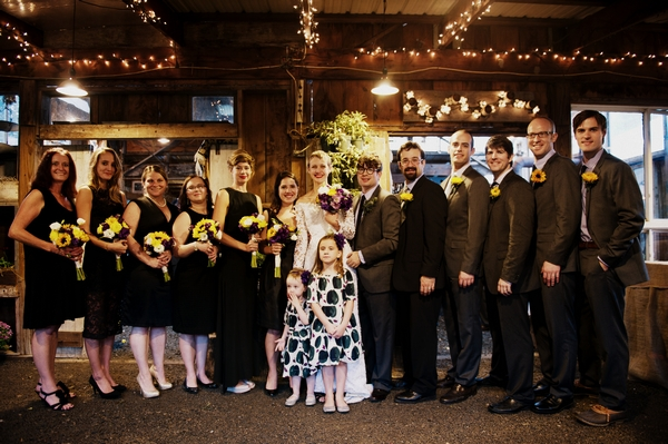 Wedding party in line - Picture by Judy Pak Photography