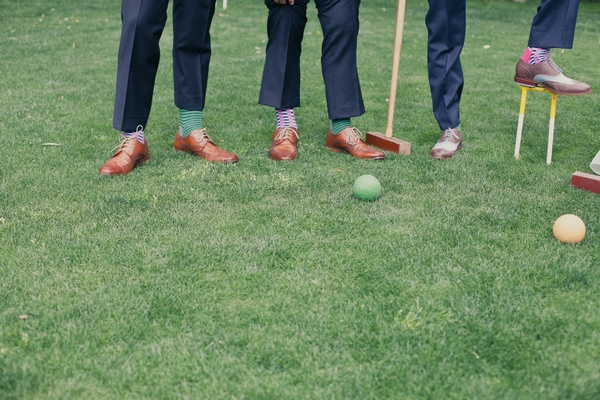 Legs of men playing croquet - Picture by onelove photography