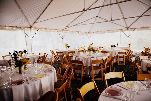 Wedding tables in marquee - Picture by Judy Pak Photography