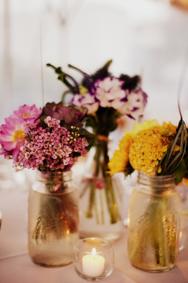 Jam jars of flowers - Picture by Judy Pak Photography