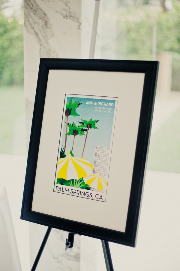 Palm Springs wedding sign - Picture by onelove photography