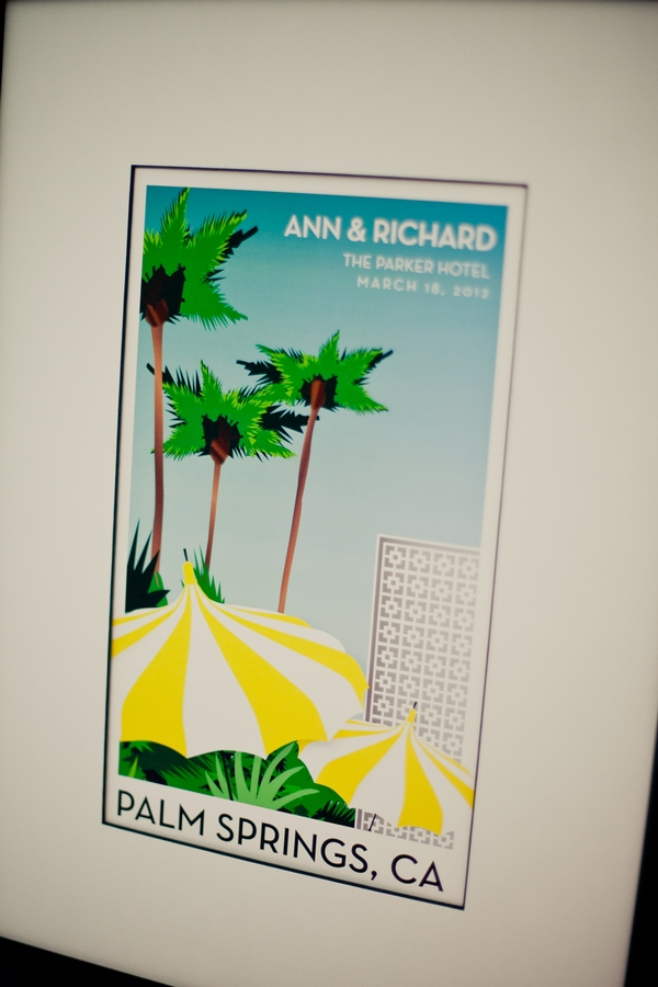 Close up of palm springs wedding sign - Picture by onelove photography