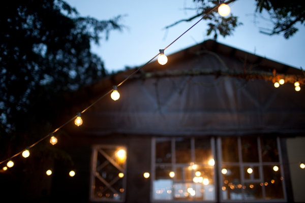 Barn with exterior lights - Picture by Judy Pak Photography