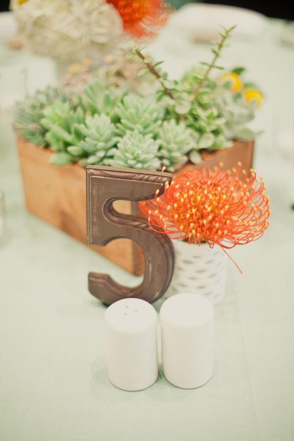 Number 5 table number - Picture by onelove photography