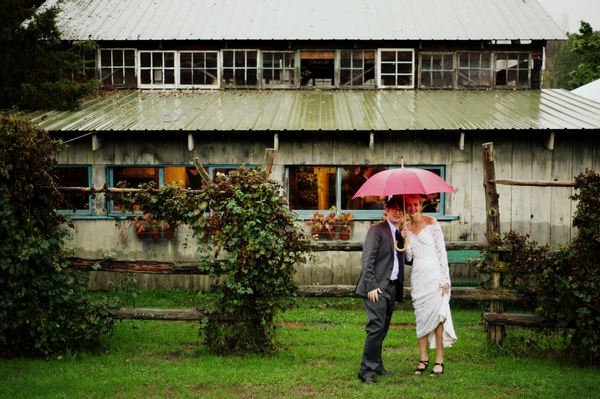 A New York Farm Wedding in the Rain