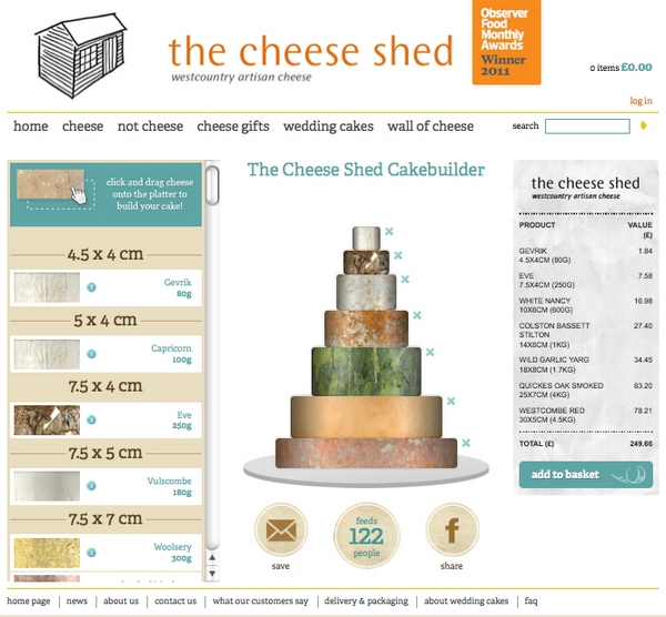 Cheese stack wedding cakes from the cheese shed the for Name of online shopping websites