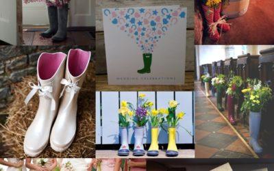Wellington Boot Wedding Decoration Ideas