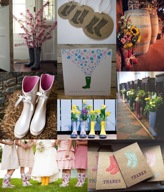 Wellington Boot Wedding Decoration Ideas