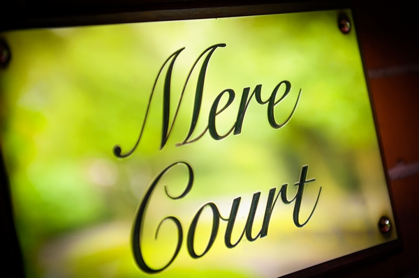 Mere Court sign - Picture by Pixies in the Cellar