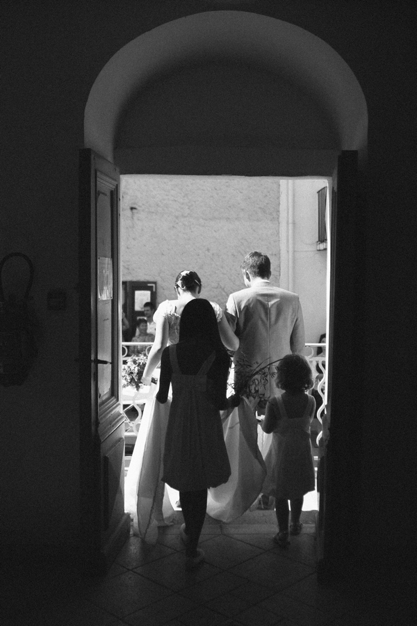 Bride and groom leaving town hall wedding ceremony - Picture by DanielRM