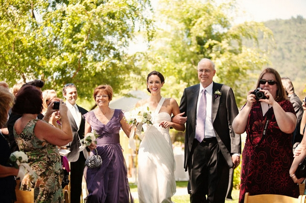 Bride walking with father down the aisle - Picture by Kate Harrison Photography