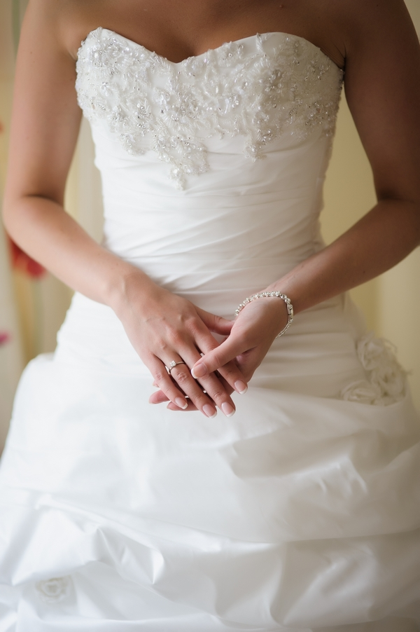 Front of bride's wedding dress - Picture by Pixies in the Cellar
