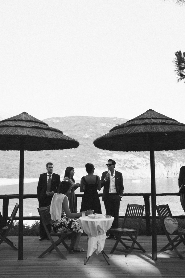 Wedding guests by umbrellas - Picture by DanielRM