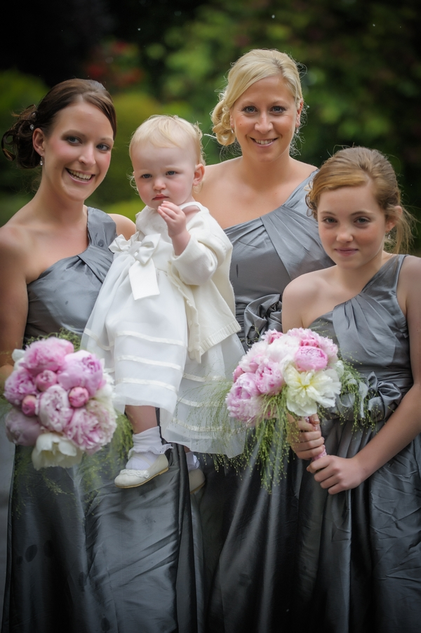 Bridesmaids in grey dresses - Picture by Pixies in the Cellar